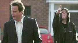 David Cameron and hoodie