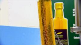 Bottle of rape seed oil