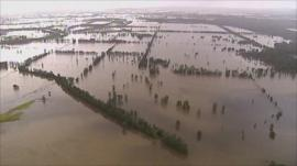 Flood waters in New South Wales