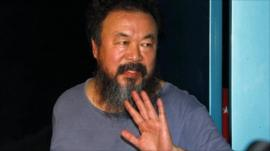 Ai Weiwei after his release from detention