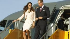 Prince William and his wife Kate are arrive on Prince Edward Island