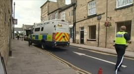 Police cordoned off an area of Wetherby
