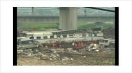 China rail crash