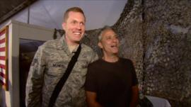 Jon Stewart meets US troops