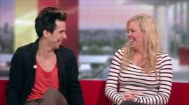 Russell Kane and Roisin Conaty