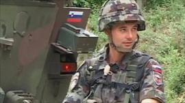 Nato peacekeeper in Kosovo