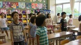 School children in Japan