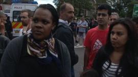 Residents in Tottenham