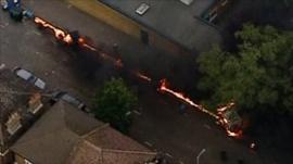 Vehicle on fire in Lewisham