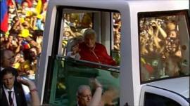 Pope Benedict XVI in the Spanish capital