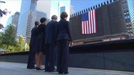 Barack Obama, Michelle Obama, George W Bush and Laura Bush