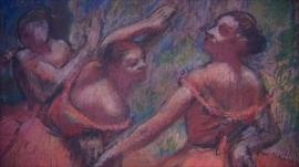 A painting by Edgar Degas