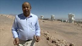 BBC's Pallab Ghosh in the Atacama desert