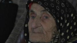 Chechen villager Kesi Karuyeva, who could be the world's oldest woman