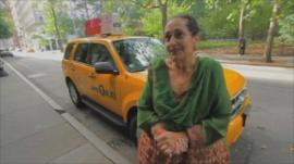 Maria Provenzano Sing with her taxi