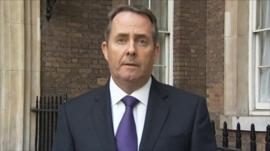 Defence Secretary Liam Fox