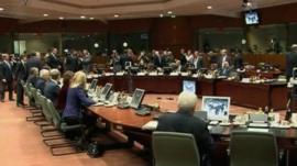 Leader at the EU debt-crisis summit