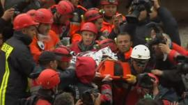 Rescue workers