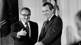 Henry Kissinger and President Nixon