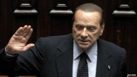 Silvio Berlusconi in the lower house of Italian parliament