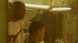 Barber shop in Havana