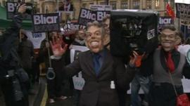 Blair protesters