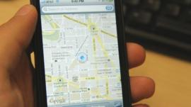 iphone with google maps turned on