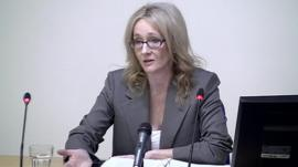 JK Rowling at the Media Ethics Enquiry.