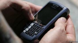 Blackberry user