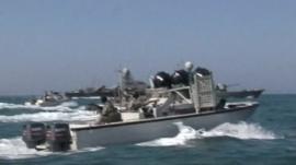 Iran patrols the waters of the Persian Gulf.