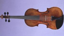 Violin by Italian maker Antonio Stradivari