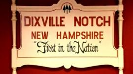 Sign for Dixville Notch