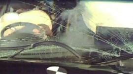 Euro Ncap image of a car crash using dummies