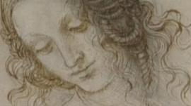 Leonardo da Vinci's study of the head of Leda