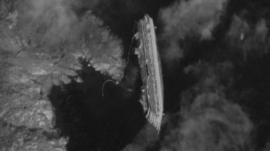 Satellite image showing the Costa Concordia on the coast of Giglio