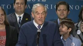 Ron Paul addresses supporters in South Carolina
