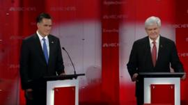 Mitt Romney and Newt Gingrich