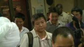 Freed Chinese worker
