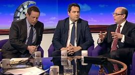 Ed Vaizey, Stephen Twigg and Nick Robinson
