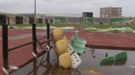 Stadium aftermath