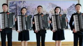 North Korean accordionists