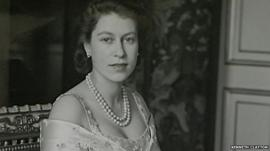 What is thought to be the first formal photograph of Queen Elizabeth II