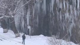 Icicles in Georgia