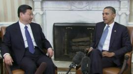 Chinese vice-president Xi Jinping with US President Obama