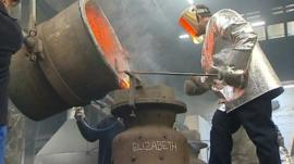 Jubilee bell being cast