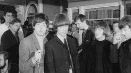 The Beatles were presented with a Radio Caroline First Birthday Award at Twickenham Studios