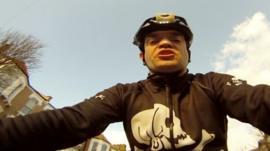 Cyclist Giles Dilnot