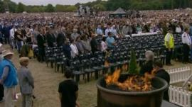 Memorial service in Christchurch