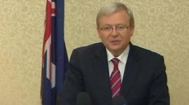 Australia's Foreign Minister Kevin Rudd