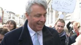 Andrew Lansley being heckled